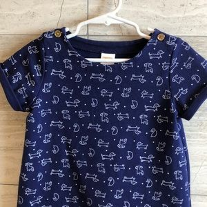 Gymboree blue dress with dogs